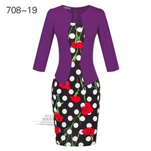 TSEINCE Jupe Fleur Imprimer Patchwork Robe Femmes Vêtements Élégant Faux Deux Costume Professionnel Hip Crayon Robe Rouge Noir Ceinture L 708-19