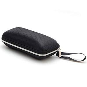 Yiomwaomog Zipper Portable Hard Black Box Lunettes de Soleil Résistance à l'écrasement Zipper étui à Lunettes Boîte, Taille: 17 * 7 * 6cm (Noir) (Color : Black)