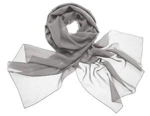 Dresstells, Femme pashmina châle écharpe étole en mousseline polyester printemps/été,Argenté,180cm×72cm