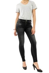 Le Temps des Cerises Jeans Power Taille Haute Skinny Noir