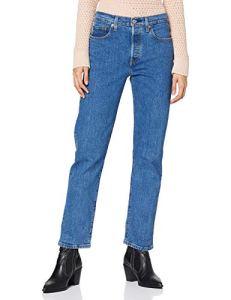 Levi's 501 Crop Jean Droit, Bleu (Jive Stonewash 0073), W31/L30 Femme