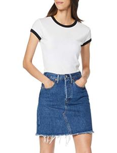 Levi's HR Decon Iconic BF Skirt Jupe, Bleu (Meer in The Middle 0009), Unique (Taille Fabricant: 27) Femme