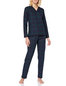 Tommy Hilfiger Set Ls Flannel Check Bas De Pyjama, Multicolore (Multi 037), Medium (Taille Fabricant: MD) Femme