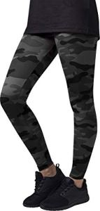 Urban Classics Ladies Leggings, Multicolore (Dark Camo), XS Femme