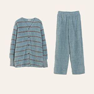 Ensemble pyjama femme Pyjama Set Bouton à manches longues for femmes de nuit vers le bas Notte Lounge doux Bouton Ensembles vers le bas à manches longues Pyjama ( Couleur : Vert , Taille : 170 )