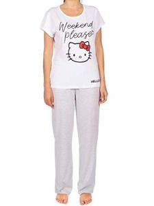 Hello Kitty – Ensemble De Pyjamas – Femme – Gris – Medium