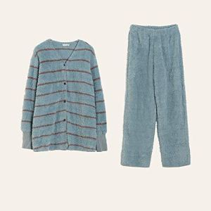 Heqianqian Pyjama Femme Pyjama Set Bouton à Manches Longues for Femmes de Nuit vers Le Bas Notte Lounge Doux Bouton Ensembles vers Le Bas à Manches Longues Pyjama Conception Unique