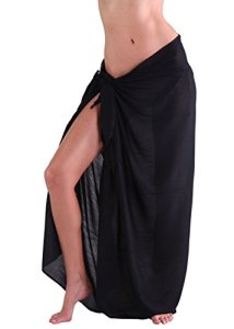 INGEAR Beach Leat Print Long Sarong Black One Size