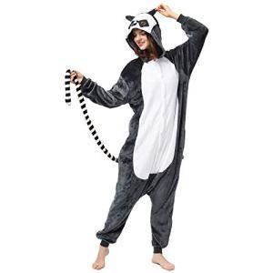 Katara 1744 (30+ modèles) Pyjama Animal Pour Adultes, Vêtements De Nuit, Homme Femme, Singe Langur Lémurien, Taille 165-175cm