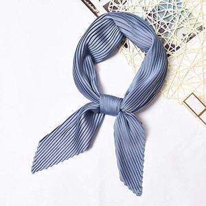 MINMINA Foulard carré pour Les Femmes, Les Femmes Bandana, Mode Haute qualité Multifonction Smooth55 * 55cm,Bleu