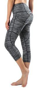 Munvot Legging Femmes Sport Jogging Capri Yoga Fitness Noir Séchage Rapide avec Poches Taille Grande,V-gris,M