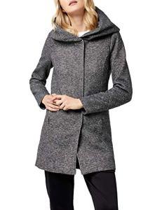 Only onlSEDONA Light Coat OTW Noos Manteau, Gris (Dark Grey Melange), 36 (Taille Fabricant: Small) Femme