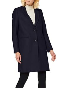 Tommy Hilfiger Belle Wool Blend Classic Coat Coat Women's, Blue (Sky Captain Cjm), 10 (Manufacturer size: 8)