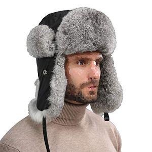 Hiver Chapka Ear Flap Trappeur Bomber Casquettes Bonnets Chapeaux Garder Chaud Patinage Ski