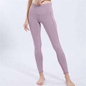 Pantalons de yoga et pilates femme Leggings femme Pantalons de yoga pour femmes Lady taille haute serré couleur unie en cours d'exécution pantalons de survêtement de fitness respirant femme pantalon-