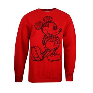 Disney Mickey Sketch Sweat-Shirt, Rouge (Red Red), 40 (Taille Fabricant: Medium) Femme