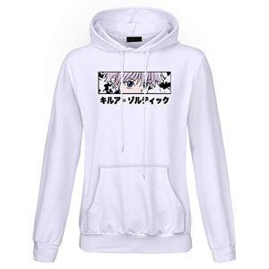 Elibeauty Lunanana Anime Hunter X Hunter Sweatershirt à capuche en tissu imprimé pour filles et femmes Cadeau pour les fans d'anime japonais 05 L Blanc