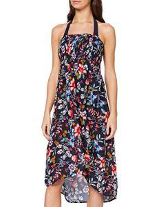 Esprit Jasmine Beach Acc Tube Dress Robe De Plage, Bleu (Ink 415), 42 (Taille Fabricant: Large) Femme
