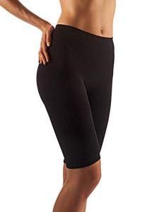 Farmacell Milk 412 (Noir, S/M) Panty Massant Anti-Cellulite en Fibre de Lait pour Femme