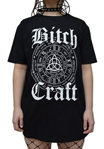 Gothic Symbol Bitch Craft T Shirt – Alternative Occult Clothing for Women by Luna Cult (L)