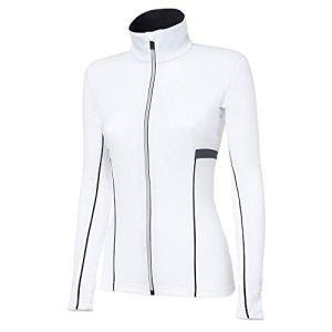 rh+ Moos Pull à Fermeture éclair intégrale pour Femme – Blanc – Taille M