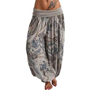topxingch Pantalons De Yoga Pour Femmes, Vêtements De Yoga, Leggings De Yoga, Vêtements De Sport, Pantalons Longs, Pantalons Amples Gris M