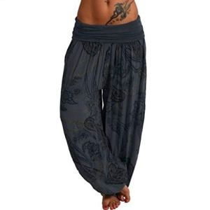 topxingch Pantalons De Yoga Pour Femmes, Vêtements De Yoga, Leggings De Yoga, Vêtements De Sport, Pantalons Longs, Pantalons Amples Gris noir XXL
