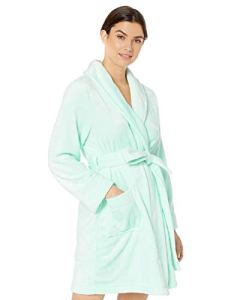 Amazon Essentials Mid-Length Plush Robe bathrobes, Pale Aqua, US XXL (EU 3XL-4XL)