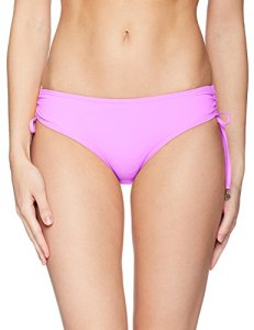 Anne Cole Women's Alex Solid Side Tie Adjustable Bikini Swim Bottom, Lilac, Large