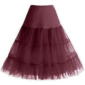 Bbonlinedress Jupon femme style année 50 Jupon Rockabilly 4 tailles à choisir Burgundy S