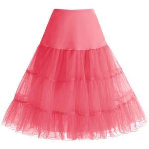 Bbonlinedress Jupon femme style année 50 Jupon Rockabilly 4 tailles à choisir Coral XL