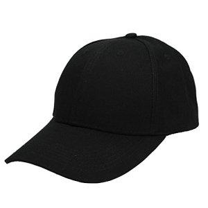 Faleto Homme Femme Amoureux Casquette Baseball Cap Chapeau Unicolore – Coton Casual Hip-hop Adjustable Réglable Boucle Métal – Noir