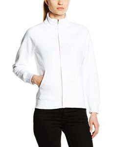 Fruit of the Loom SS091M, Sweat shirt à capuche Femme, Blanc-Blanc, 36