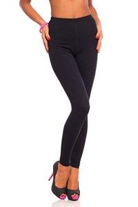 futuro fashion jambières coton pleine longueur tous coloris toutes les tailles actif pantalon sport pantalon – Noir, EU 36 (S)