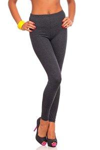 FUTURO FASHION Women's Full Length Cotton Leggings Soft, Plus Sizes Graphite 26