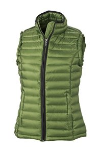 James & Nicholson Daunenweste Ladies Quilted Down Vest – Blouson Femme, Rouge (Jungle Green/Black) – XX-Large (Taille fabricant: XX-Large)