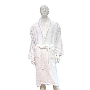 Lot de 10Hôtel et spa Peignoir de bain Blanc, 100 % coton, blanc, Taille L
