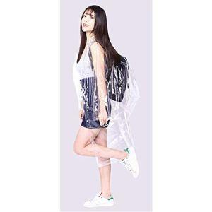 Manteau de pluie Poncho Réutilisable Eva Transparent Manteau de pluie Adulte Hommes et Femmes Randonnée Sac à dos Long Poncho peut être réutilisé Werden-Transparent M