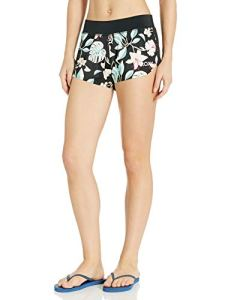 Roxy Junior's Disco Fairytale Swim Shorts, True Black Story of Sunshine, XS