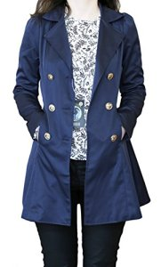 SODACODA Women`s Hourglass Trench Coat – Navy – S