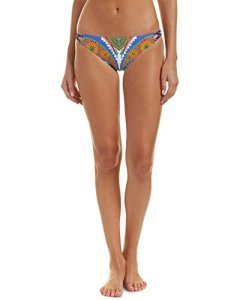 Trina Turk Women's Hipster Bikini Swimsuit Bottom, Purple/Orange / Pacific Paisley, 8