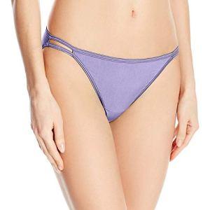 Vanity Fair Illumination Body Shine String Bikini Panty 18108 Bas, améthyste, XL Femme