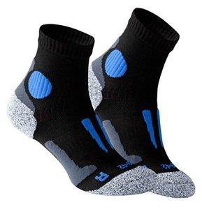 VCA – Lot de 2 paires de chaussettes de course à pied – haute performance – rembourrée et élastiquée – pointe remaillée main