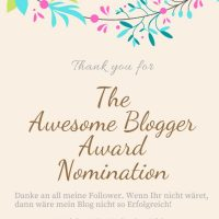 The Awersome Blogger Award! Thank you!