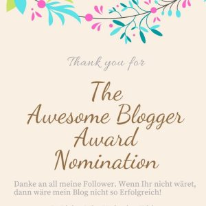 The Awersome Blogger Award
