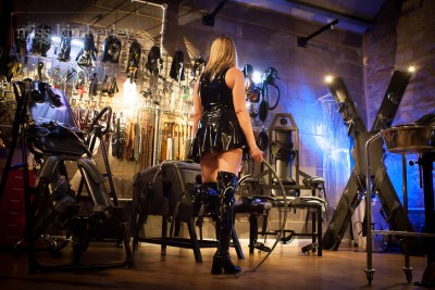 Dominatrix Milton Keynes in her dungeon