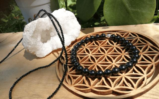 Bracelet et collier Spinelle noir