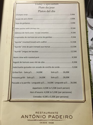 Alcobaca Portugal restaurant antonio padeiro
