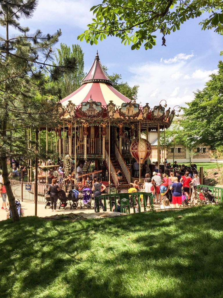Jardin Acclimatation Paris Neuilly sur seine Parc Attractions Carrousel