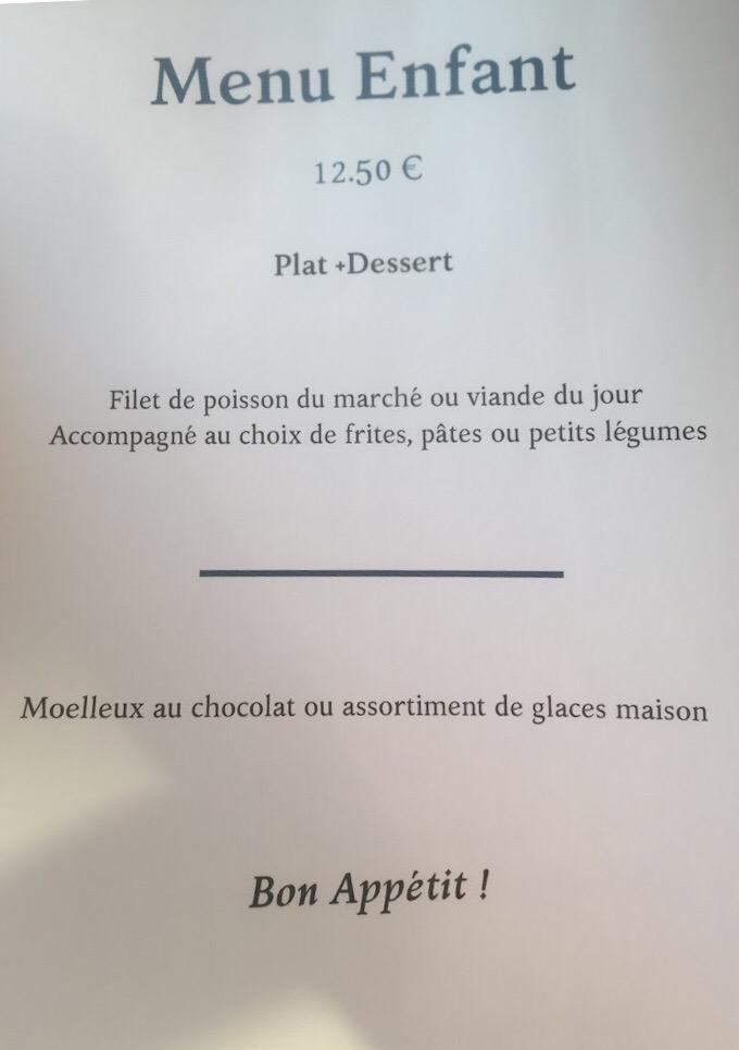 Carte Restaurant Les Flots Chatelaillon Plage